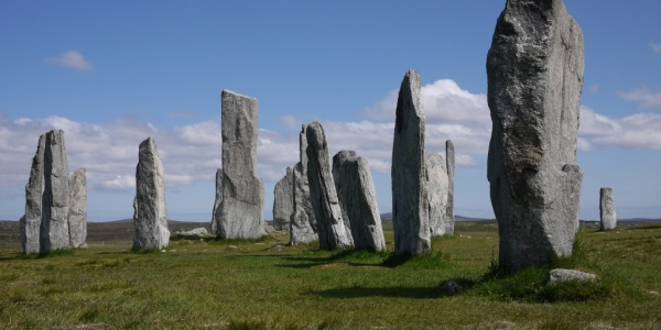 The Neolithic standing stones at Callanish on Lewis