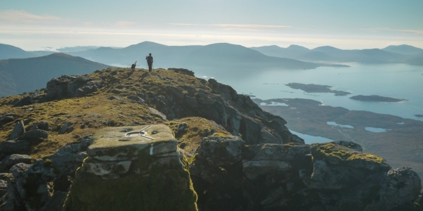 Approaching the summit of Tiorga Mor in the Harris hills